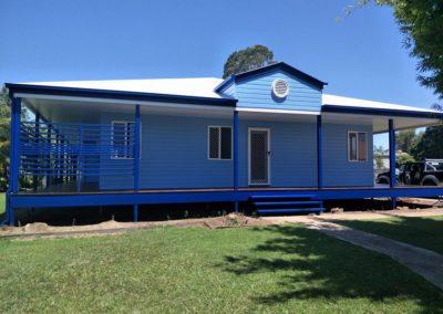 Blue House Outside 1
